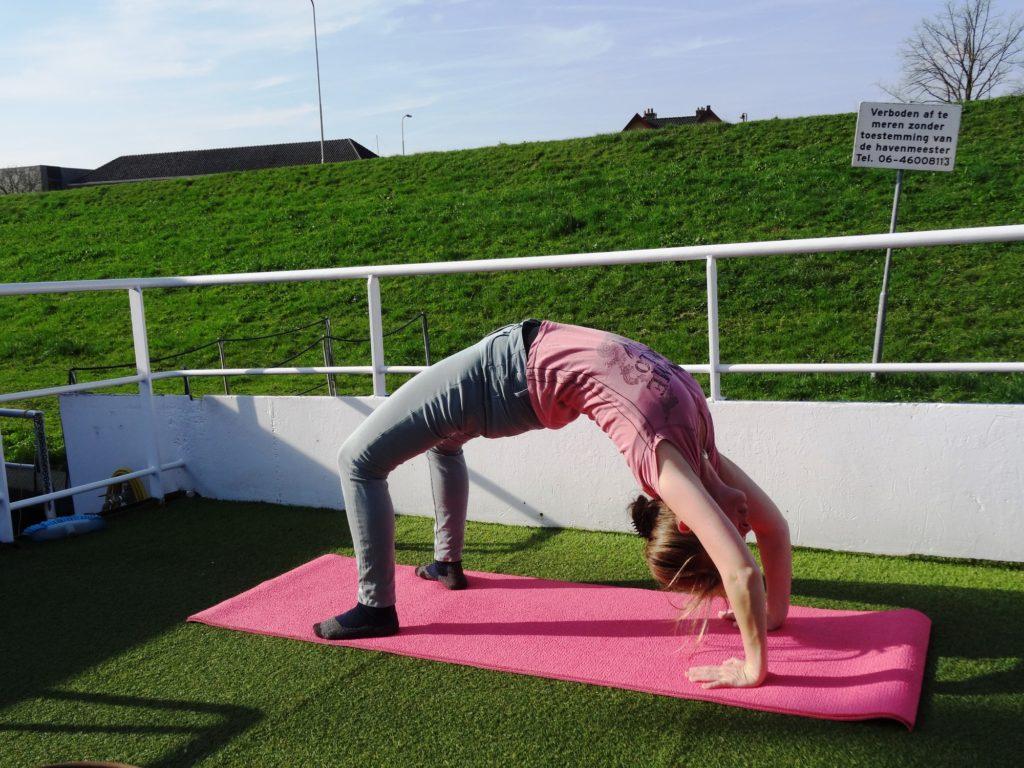 yoga vakantie Nederland - yoga op dek