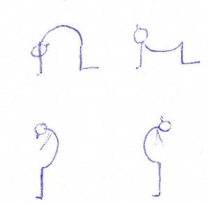 yoga kat-koe en variatie staand
